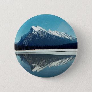 Rundle山、Banff 5.7cm 丸型バッジ