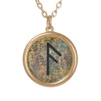 Runeのネックレス- Ansuz -金ゴールド ゴールドプレートネックレス