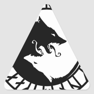Runicものすごいオオカミのバイキングのnorseの北欧人のrunes 三角形シール
