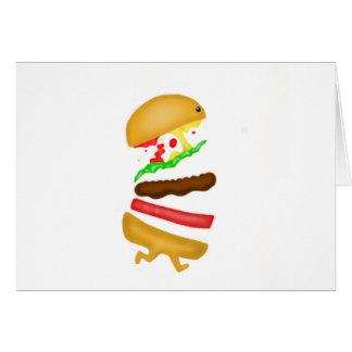 Runninのハンバーガー グリーティングカード