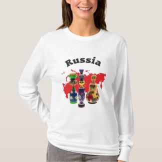 Russland - Russia Babuschka Matrjoschka Tシャツ