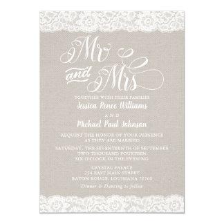Rustic Lace Wedding カード