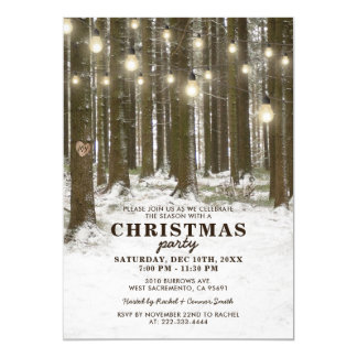 Rustic Winter Wonderland Christmas Holiday Party カード