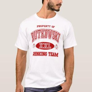Rutkowskiのポーランド人の飲むチーム Tシャツ