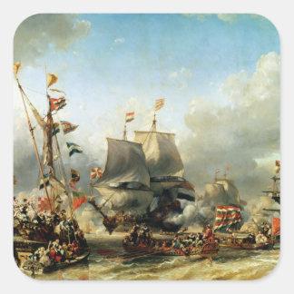 Ruyterおよびウィリアムde Wittの乗船 スクエアシール