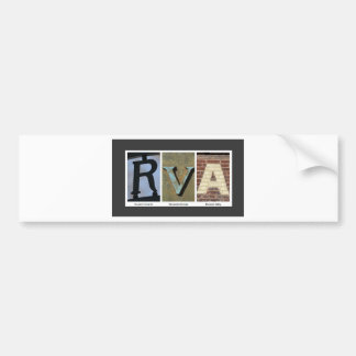 RVAの写真のコラージュ バンパーステッカー