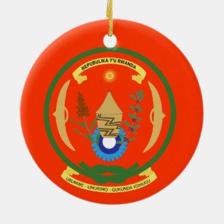 RWANDA*の頂上のクリスマスのオーナメント セラミックオーナメント