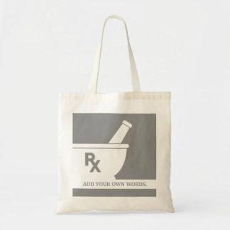 Rxの記号の薬理学の乳鉢および乳棒のカスタム トートバッグ