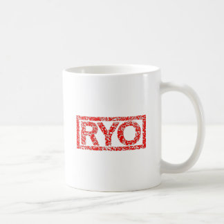 Ryoのスタンプ コーヒーマグカップ