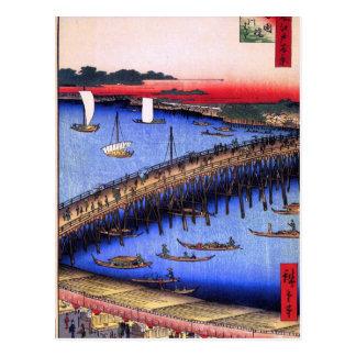 Ryōgoku橋および素晴らしい川岸(両国橋大川ばた) ポストカード