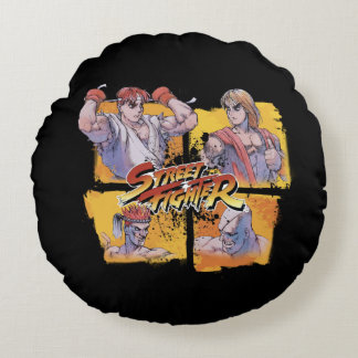 Ryu対ケン及びAdon対Sagat ラウンドクッション
