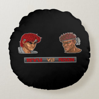 Ryu対Adon 2 ラウンドクッション