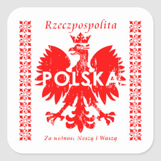 Rzeczpospolitaポルスカのポーランドのワシの紋章 スクエアシール