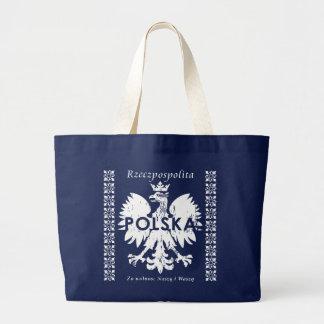 Rzeczpospolitaポルスカポーランドのワシの記号 ラージトートバッグ