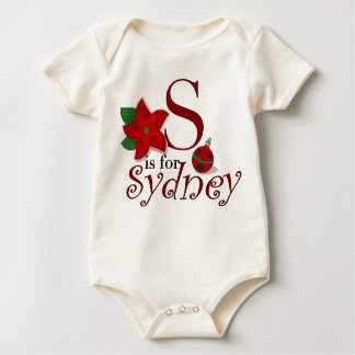 Sはシドニーのベビーの初めてのクリスマスのTシャツのためです ベビーボディスーツ