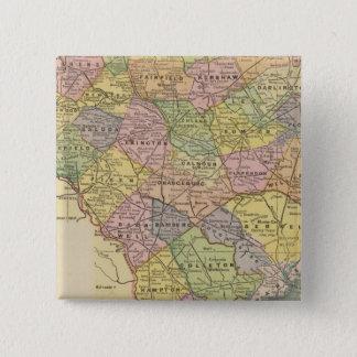 Sカロライナ 5.1CM 正方形バッジ