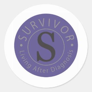 S2Sの生存者のロゴのデザインシリーズ ラウンドシール