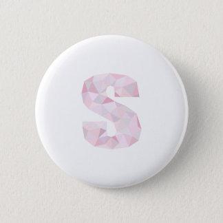 S -低い多三角形-中立ピンクの紫色の灰色 5.7CM 丸型バッジ