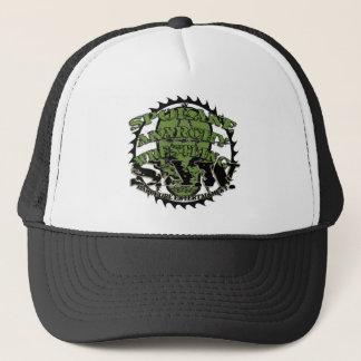 S.A.Wのスカルのロゴのトラック運転手の帽子 キャップ