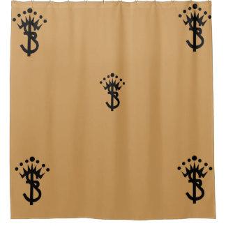 S.B. 新しいロゴ シャワーカーテン