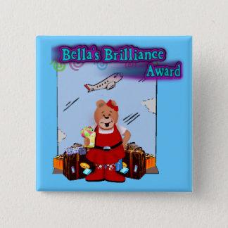「s Brillance賞-旅行 5.1cm 正方形バッジ