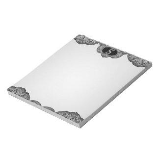 S - Falckのアルファベット(銀色の) ノートパッド