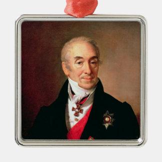 S. Kushnikov 1828年のポートレート メタルオーナメント