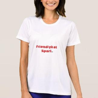S.LによるFriendlykatのスポーツのTシャツ Tシャツ