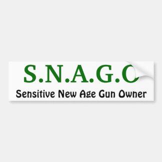 S.N.A.G.Oの敏感なニューエイジの銃所有者 バンパーステッカー