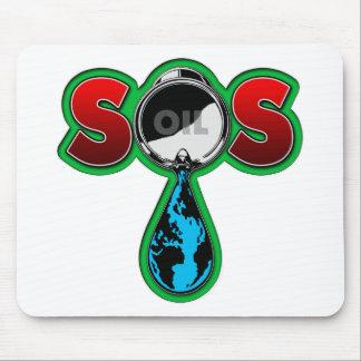 S.O.S. 油バレルの地球 マウスパッド
