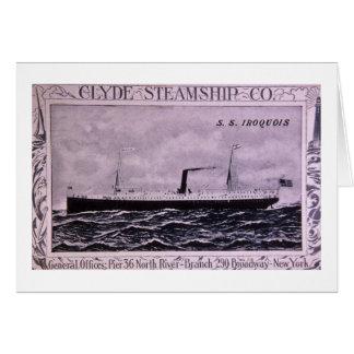 S.S. イロクォイ人のヴィンテージ米国の軍隊の汽船 カード