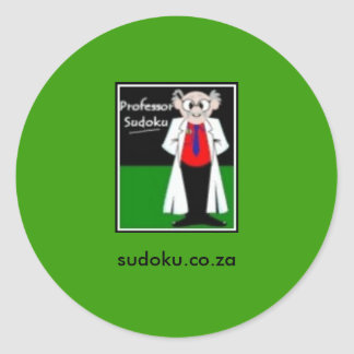 S Sudokuのステッカーの教授 ラウンドシール
