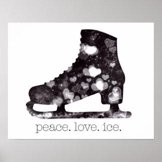 S Szczuckiによる平和愛氷のフィギュアスケートの芸術 ポスター