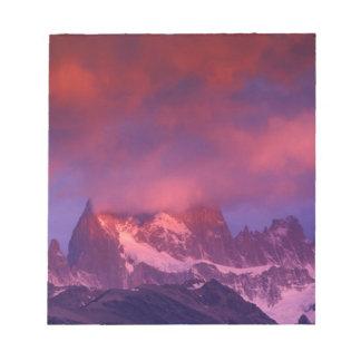 SA、アルゼンチンのLos Glaciaresの国立公園、 ノートパッド