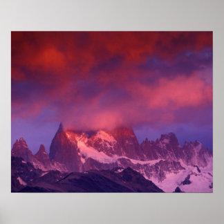 SA、アルゼンチンのLos Glaciaresの国立公園、 ポスター