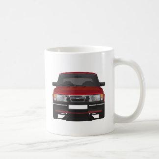 Saab 900ターボ(赤い) コーヒーマグカップ