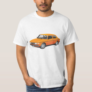 SAAB 99のオレンジ Tシャツ