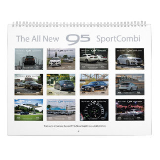 Saab 9-5 NG Sportcombi Calendar 2018 カレンダー