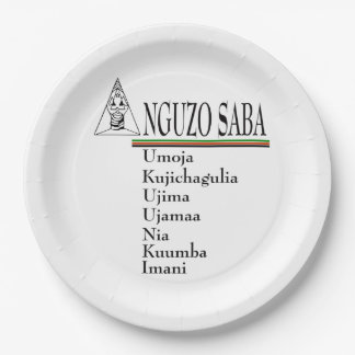 Sabaの主義のKwanzaaのパーティーの紙皿 ペーパープレート