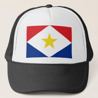 sabaの島の旗のネザーランド国の地域 キャップ