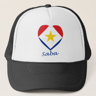 Sabaの旗のハート キャップ