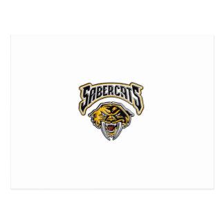 Sabercatsの青年フットボール及び応援 ポストカード