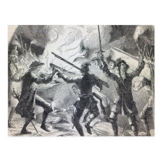 Sacheverellの暴徒はチャペルの部分を破壊します ポストカード