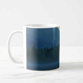 Saco湖の薄暗がり コーヒーマグカップ