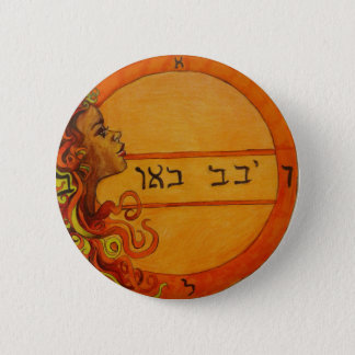 SacralチャクラのSolomonのシールボタン 5.7cm 丸型バッジ