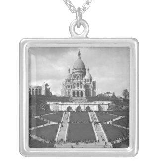 Sacre-Coeurのバシリカ会堂、Montmartre 1876-1910年 シルバープレートネックレス