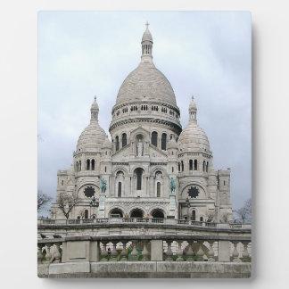 Sacre Coeur deパリのスタイリッシュなプラク フォトプラーク