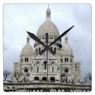 Sacre Coeur deパリのスタイリッシュな柱時計 スクエア壁時計