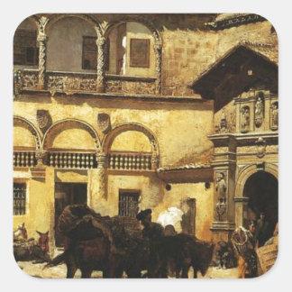 Sacristyおよび戸口の前の市場が開かれる広場 スクエアシール