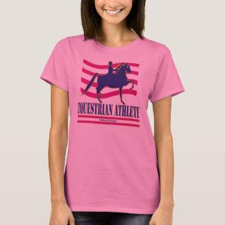 Saddlebredの乗馬のアスリートの長袖のTシャツ Tシャツ